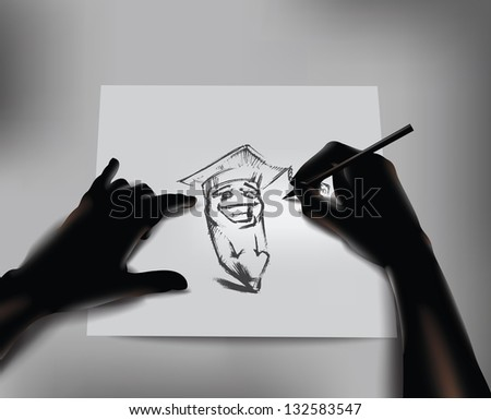 Artist. Vector illustration