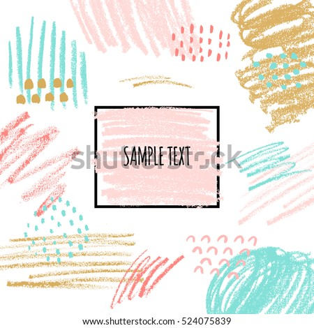 Artistic Background Hand Drawn Textures Pastel Vector de ...