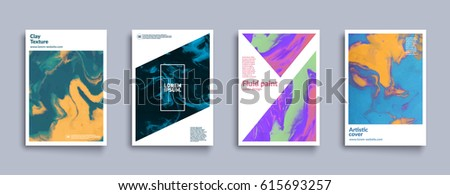 Artistic covers design. Creative fluid colors backgrounds. Trendy design. Eps10 vector