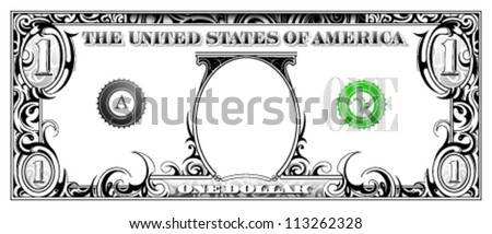 Artistic dollar bill - stock vector