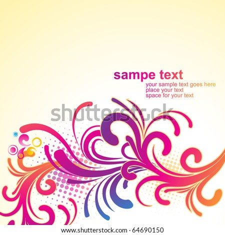 artistic floral design illustration background