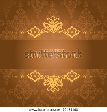 artistic flower background for your text. - stock vector