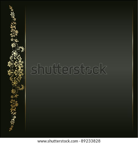 Artistic flower golden background for your text