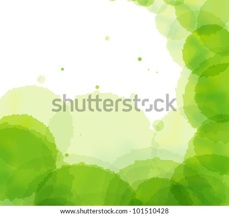 Artistic green splash vector background - stock vector