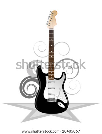 Artistic illustration of electric guitar