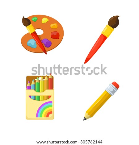 children creativity painting drawing and coloring education design elements - Pictures To Paint For Children