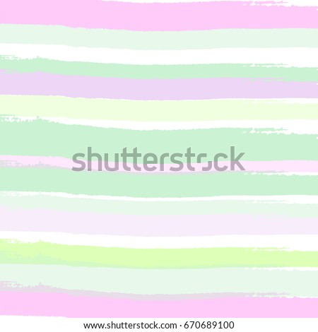Artistic striped background with brush freehand texture. Lime green, peach, purple, navy green, pink. Wedding, anniversary, birthday, greeting card, cover design, wraps, wallpaper. Vector