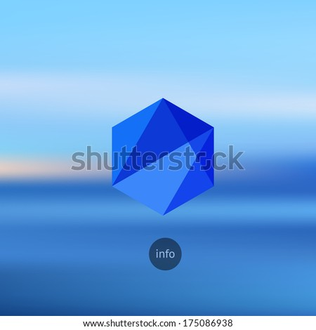 Artistic style - Defocused abstract blue background for your design. Hipster blur background with geometric graphic. Blur seaside. - stock vector