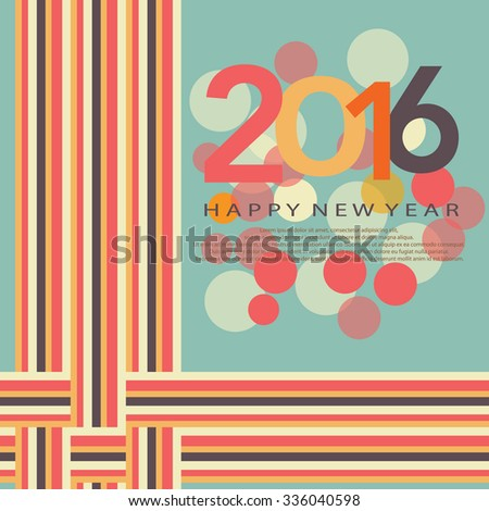 Artistic style - happy new year background