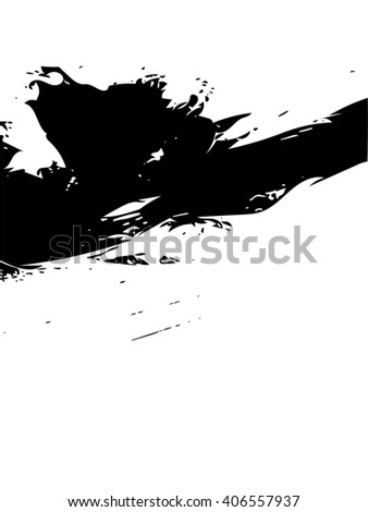 Artistic vector grunge black and white background.