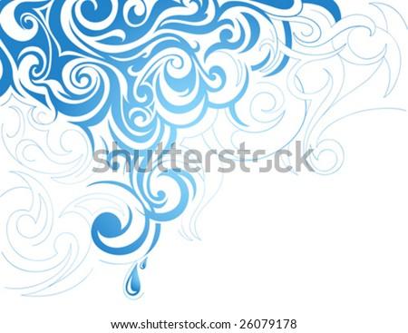 Artistic water splash - stock vector