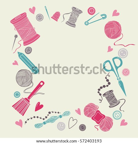 Art and craft stock images royalty free images vectors for Sewing and craft supplies