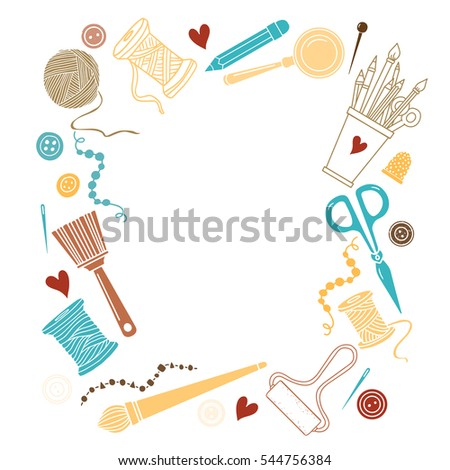 Arts crafts stock images royalty free images vectors for Arts and crafts tools