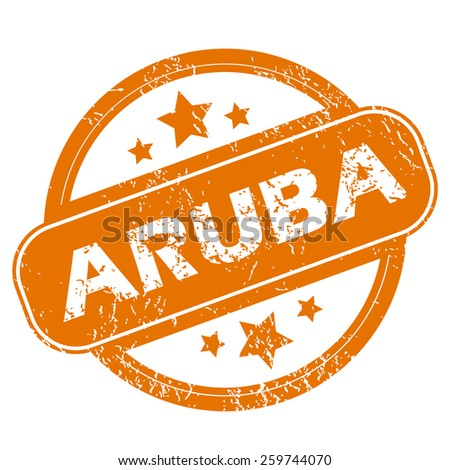 Aruba orange grunge rubber stamp on a white background. Vector illustration - stock vector