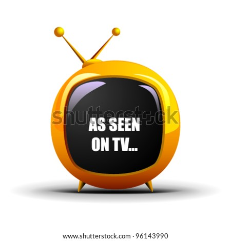 As Seen On TV Futuristic Vector