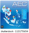 ASEAN Economic Community, AEC - stock photo