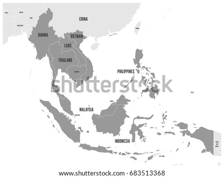 Asean economic community aec map grey vectores en stock 683513368 asean economic community aec map grey map with dark gray highlighted member countries gumiabroncs Image collections