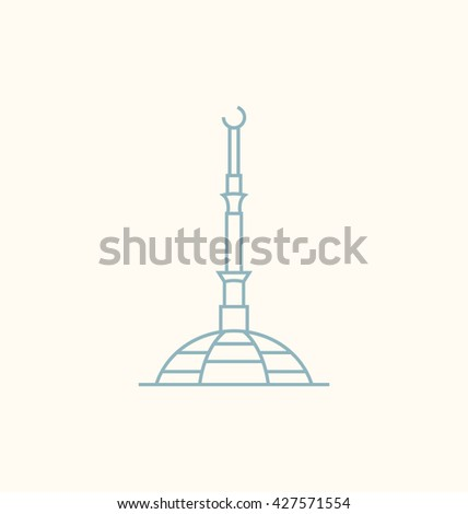 Ashgabat  Vector Illustration