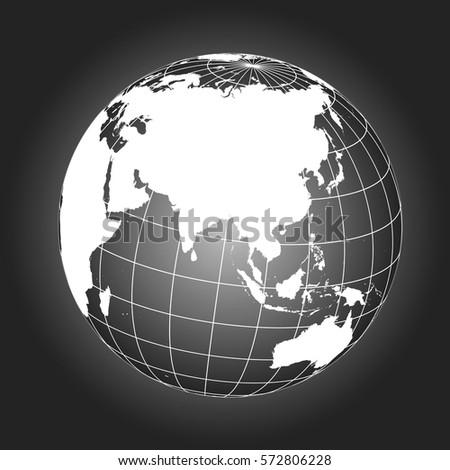Australia map asia antarctica north pole vectores en stock 357416969 asia map australia russia africa north pole earth globe worldmap gumiabroncs Choice Image
