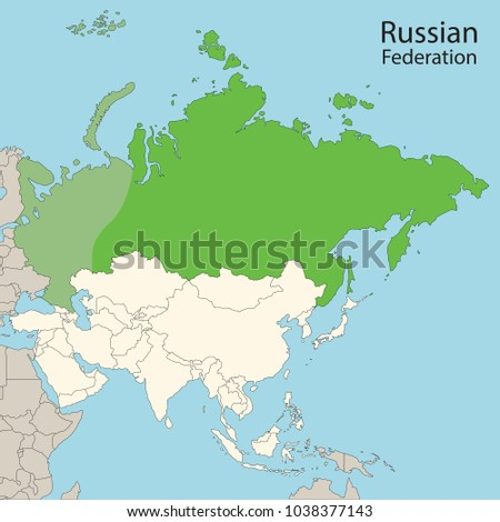 Asia Map Russian Federation Russia Stock Photo Photo Vector