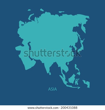 ASIA MAP VECTOR - stock vector