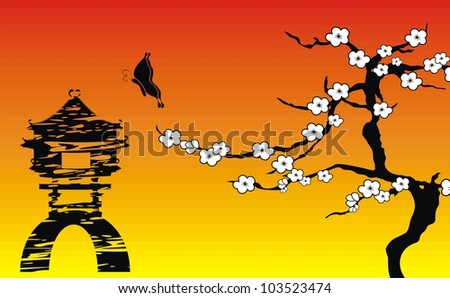 asian background in vector format