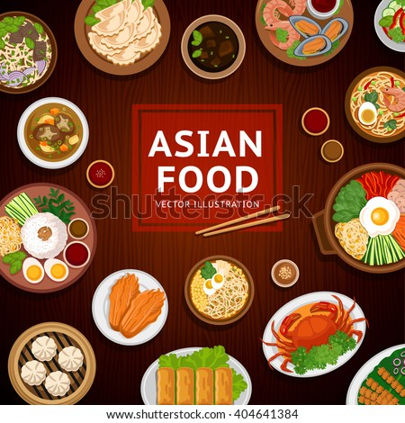 Asian food stock images royalty free images vectors for Asian cuisine menu