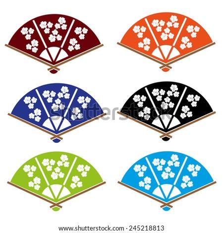 indian hand fan clipart. asian hand fan various colors set eps10 indian clipart u