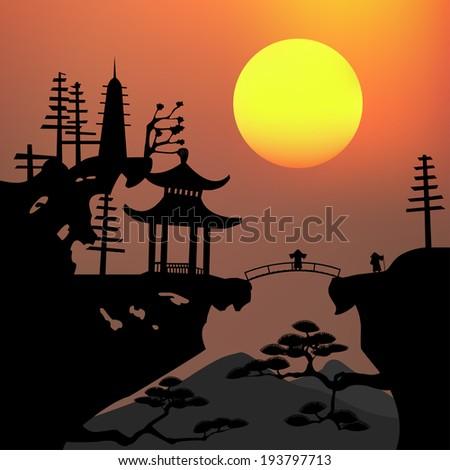 asian landscape stock vector 193797713 shutterstock