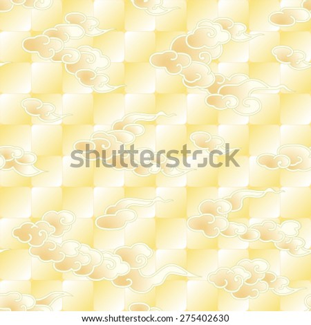 Asian style clouds pattern - stock vector