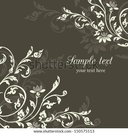Asian Style Vintage floral design pattern background