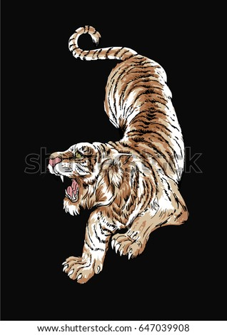 asian tiger illustration  2