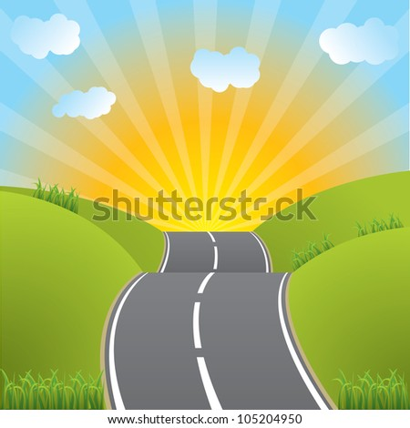 Road Hill Clipart