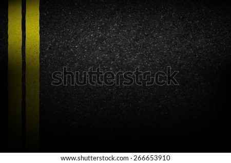 Asphalt texture with road markings background, illustration vector - stock vector