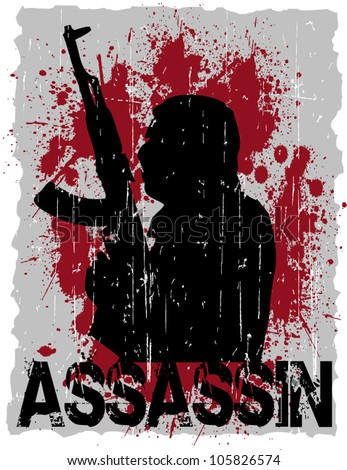 assassin - stock vector