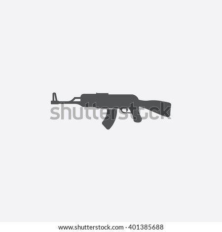 Assault rifle icon. Assault rifle icon vector. Assault rifle icon simple. Assault rifle icon app. Assault rifle icon new. Assault rifle icon logo. Assault rifle icon sign. Assault rifle icon ui.  - stock vector