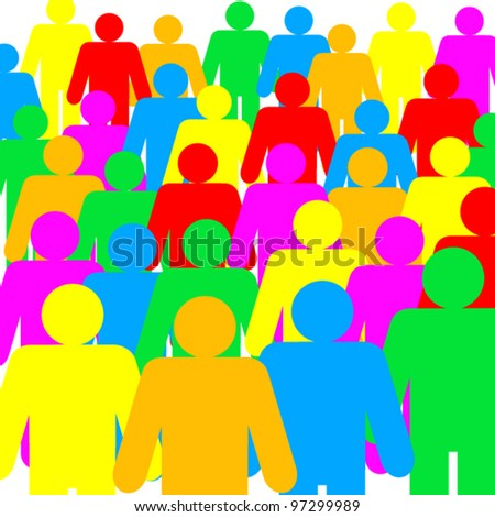assembly of colored human figure - illustration