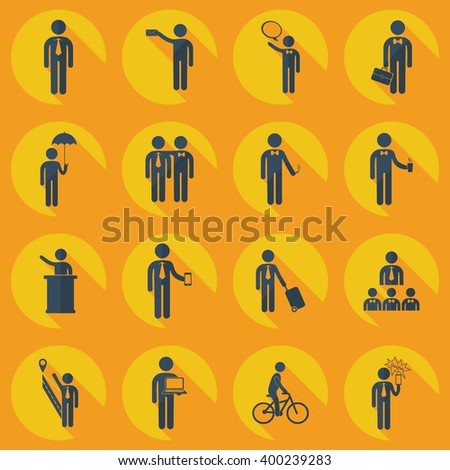 assembly of people silhouettes stick figure