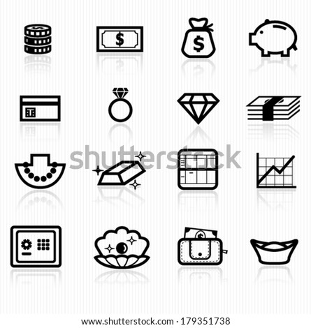 asset icons - stock vector