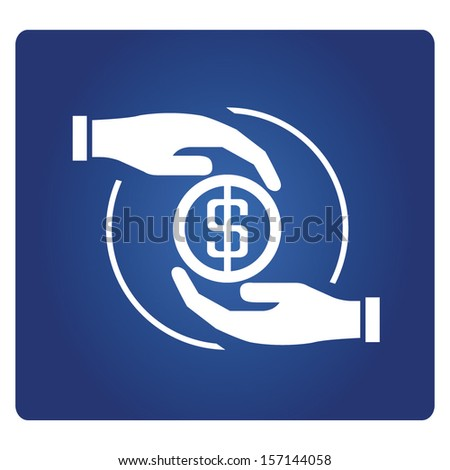 asset management, money allocation concept - stock vector