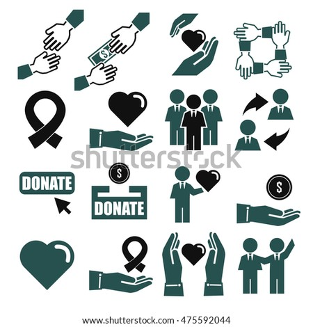 assist, help, kindness icon set