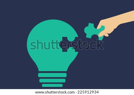 Assistance in implementing the idea when you add the missing element  - stock vector