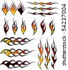 Assorted flames - stock vector