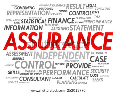ASSURANCE word cloud, business concept - stock vector