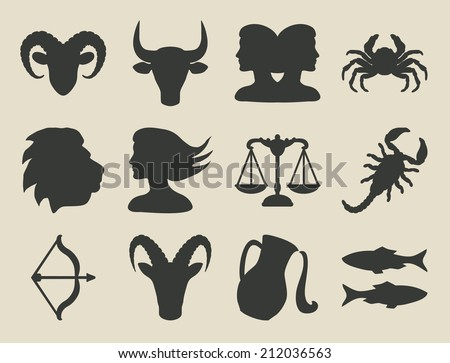 astrological signs set - vector illustration. eps 8