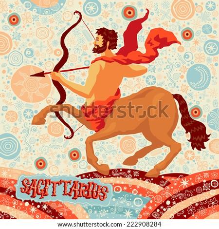Astrological zodiac sign Sagittarius. Part of a set of horoscope signs. Vector illustration. - stock vector