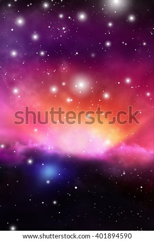 Astrology Mystic  Background. Outer Space. Vector Digital Illustration of Universe. Vector Galaxy Background.  - stock vector