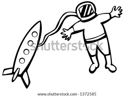 astronaut - stock vector