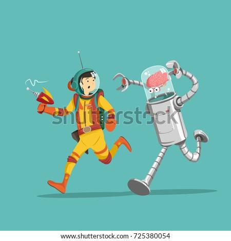 astronaut man alien girl - photo #35