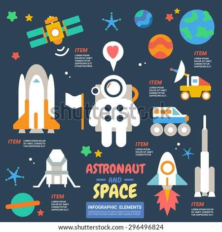 Astronaut and Space Infographics